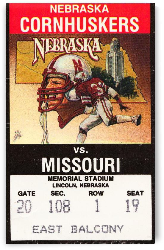 1988 Nebraska Cornhuskers vs. Missouri Tigers by Row One Brand