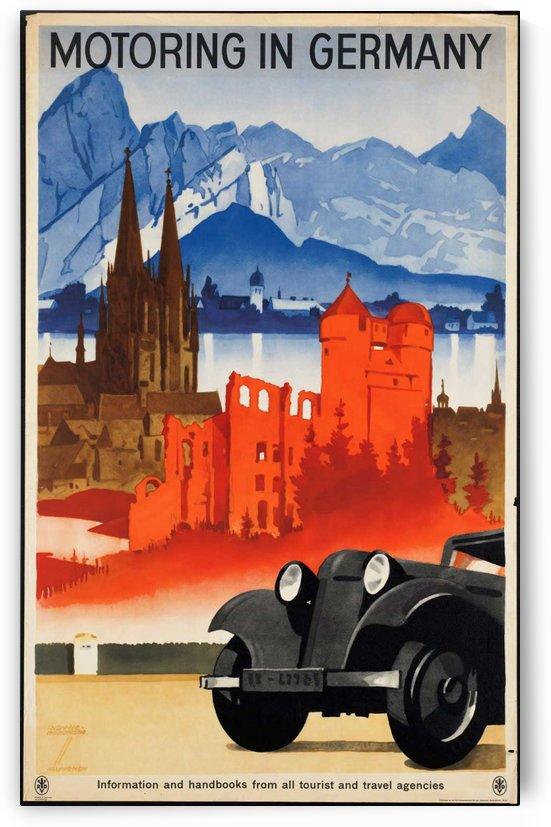 Motoring in Germany Vintage Poster by VINTAGE POSTER