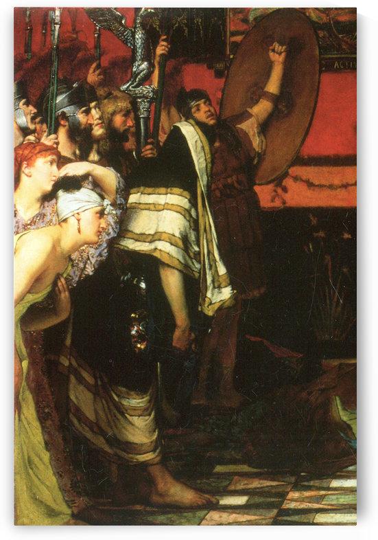 A Roman conqueror, detail -1- by Alma-Tadema by Alma-Tadema