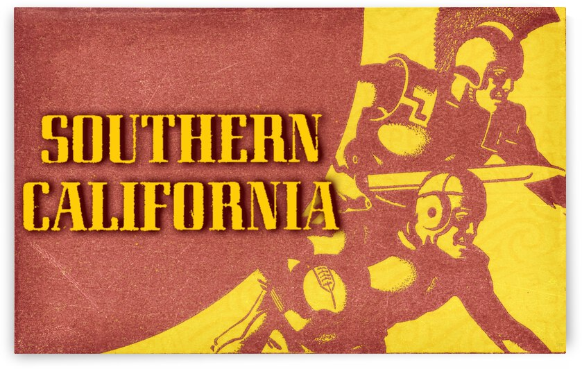 1936 Southern California Football Ticket Remix by Row One Brand