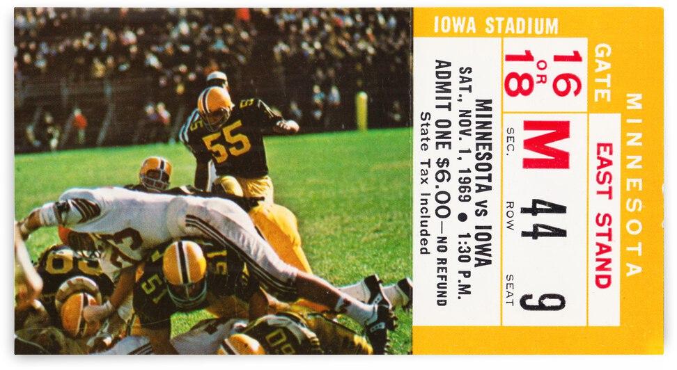 1969 Iowa Hawkeyes vs. Minnesota Golden Gophers by Row One Brand
