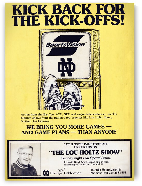 1988 Lou Holtz Show Advertisement Poster by Row One Brand