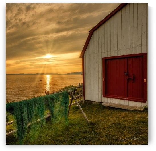 Filets de peche au soleil couchant by Glenn Albert