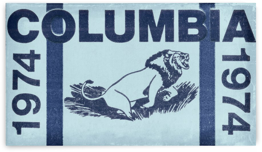 1974 Columbia Lions Football Ticket Stub Remix Art by Row One Brand