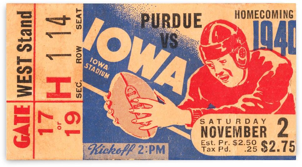 1940 Iowa Hawkeyes Homecoming Football Game by Row One Brand