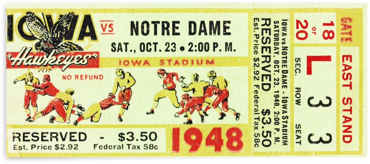 1948 Iowa Hawkeyes vs. Notre Dame Fighting Irish by Row One Brand