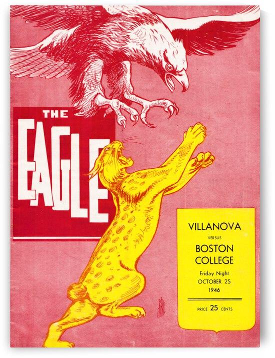 1946 Boston College Eagles vs. Villanova Wildcats by Row One Brand