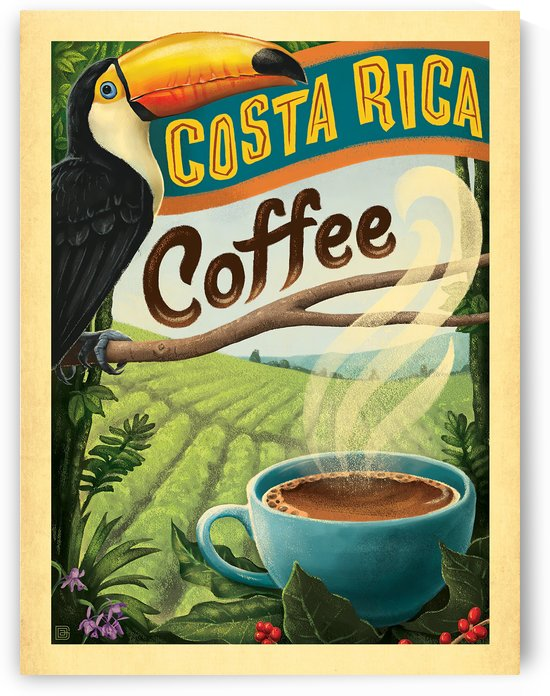 Costa Rica Coffee poster by VINTAGE POSTER