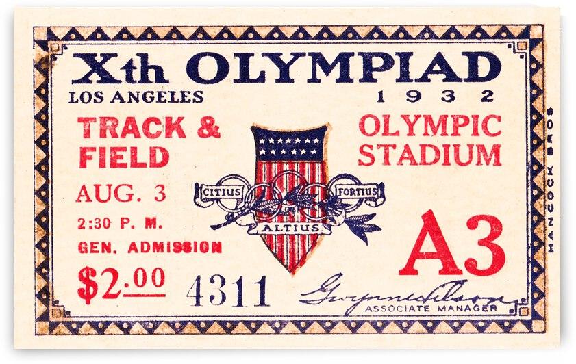 1932 Olympics Track Ticket Stub by Row One Brand