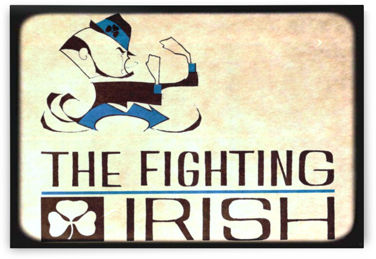 1967 Notre Dame Fighting Irish Art by Ted Drake by Row One Brand