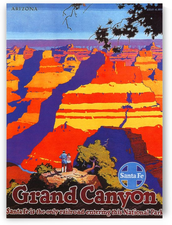 Arizona Grand Canyon Vintage Travel Poster by VINTAGE POSTER