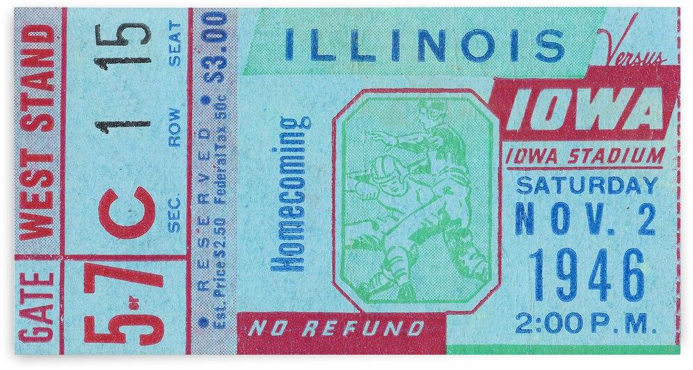 1946 Illinois Illini vs. Iowa Hawkeyes by Row One Brand