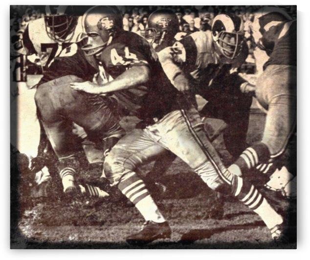 1966 John David Crow Football Art by Row One Brand