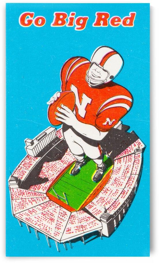 1973 Nebraska Go Big Red Art by Row One Brand