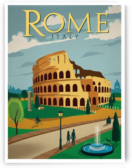 Vintage Rome Travel Poster by VINTAGE POSTER