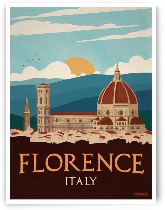 Vintage Florence travel poster by VINTAGE POSTER