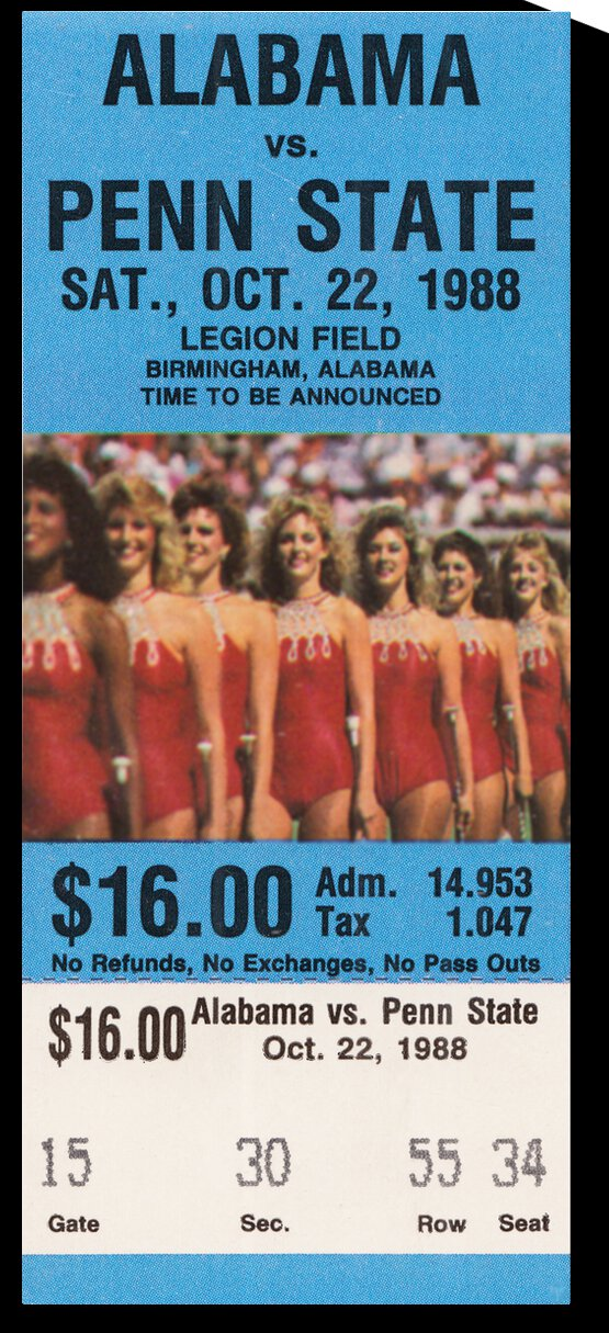 1988 Alabama Crimson Tide vs. Penn State Nittany Lions by Row One Brand