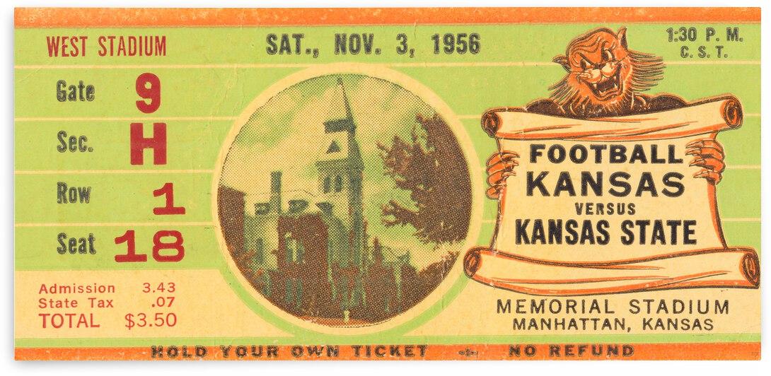 1956 Kansas State Wildcats vs. Kansas Jayhawks by Row One Brand