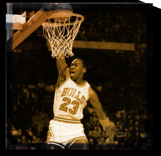 Retro Michael Jordan Basketball Art by Row One Brand