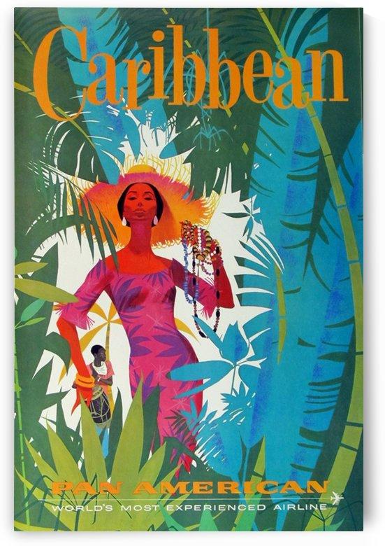 Caribeean Pan American Poster by VINTAGE POSTER