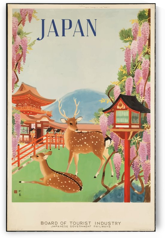 Vintage Travel Poster in 1930 for Japan by VINTAGE POSTER