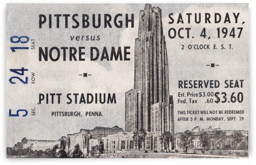 1947 Pitt Panthers vs. Notre Dame Fighting Irish by Row One Brand