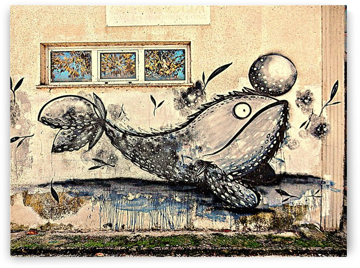 Whale Graffiti on Derelict Building 1 by Dorothy Berry-Lound