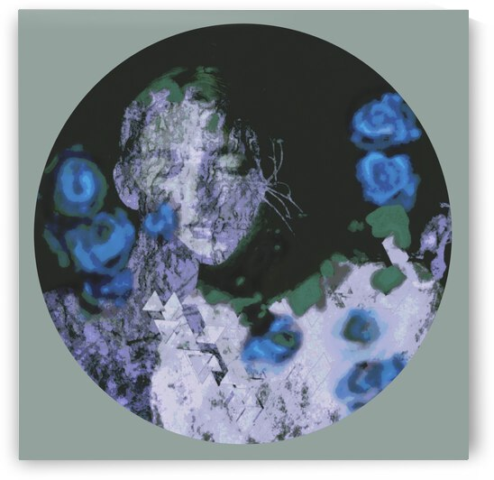 Fleurs bleues  by DJART Ann Saint Gelais