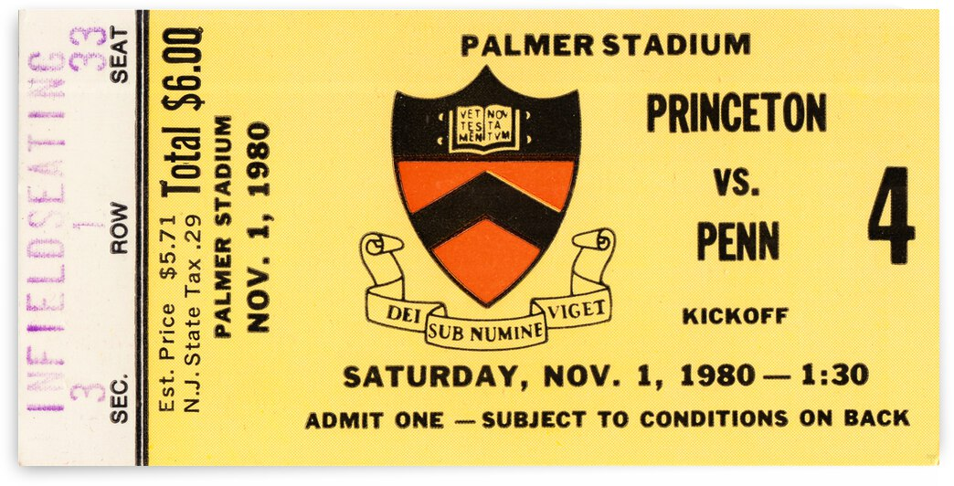 1980 Princeton Tigers vs. Penn Quakers by Row One Brand