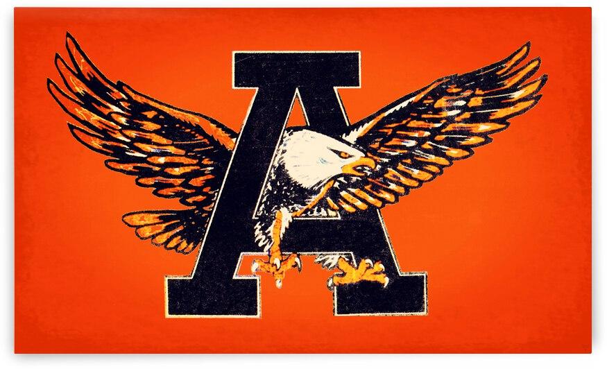 Vintage Fifties Auburn Tigers War Eagle A Art by Row One Brand