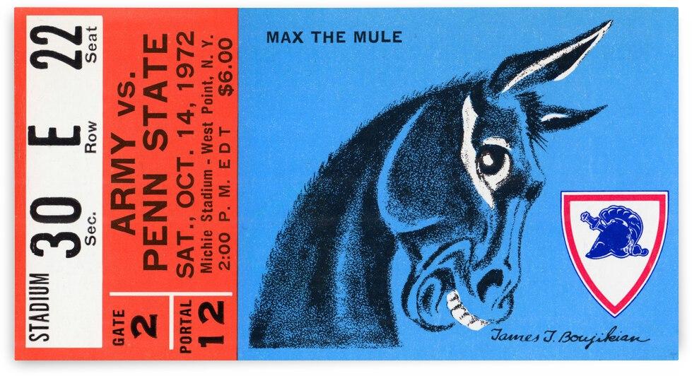 1972 Army vs. Penn State    Artist James Boujikian   Row 1  by Row One Brand