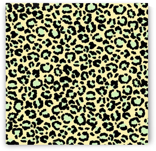 Leopard Pattern in Mint Green on Oatmeal by Photography and Digital Art By Colleen