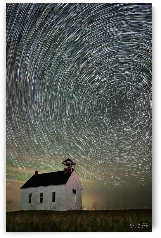 Abbott Church under Star Trail by Kai Huang