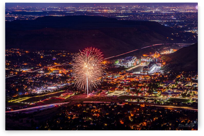 July 4th Fireworks in Golden Colorado by Kai Huang