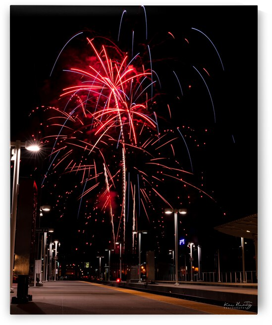July 4th Fireworks from Union Station Denver Colorado by Kai Huang