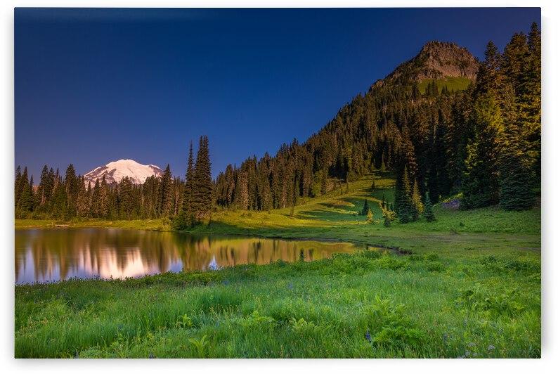 Mount Rainier at Tipsoo Lake by Enrico Pozzo
