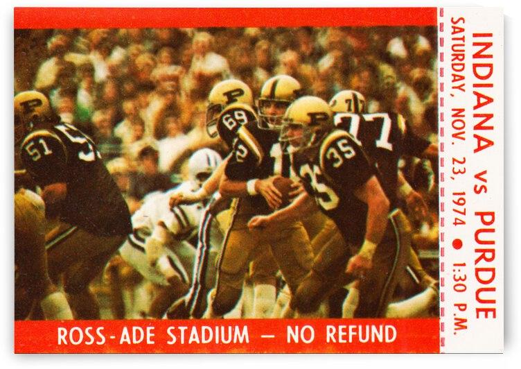 1974 Purdue Boilermakers vs. Indiana Hoosiers   Row 1 by Row One Brand