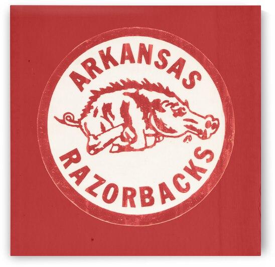 Vintage Arkansas Razorbacks Wall Art by Row One Brand