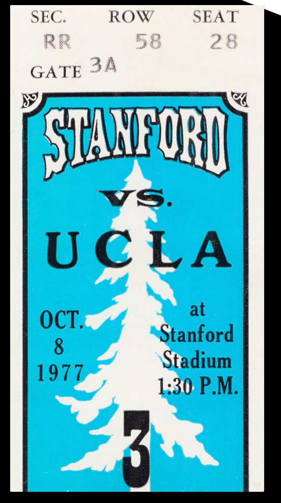 1977 Stanford Cardinal vs. UCLA Bruins | Row 1 by Row One Brand