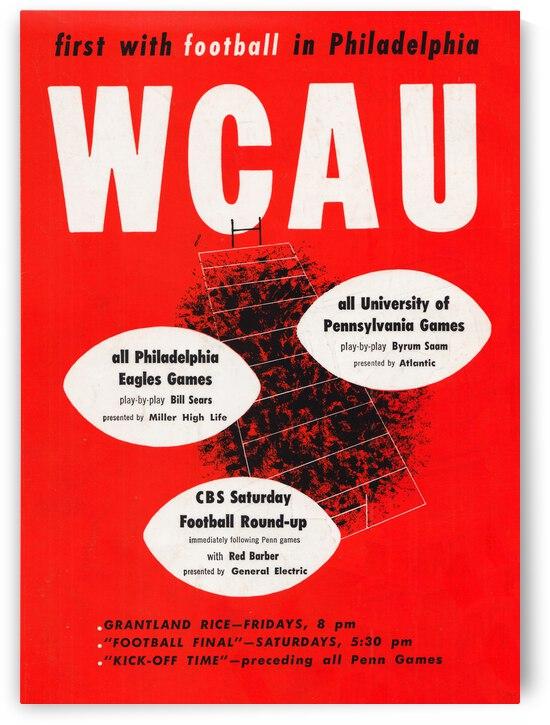 1951 WCAU Radio Philadelphia Football Ad | Row 1 by Row One Brand