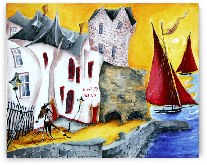 Spanish Arch at The Corrib River Galway by Druid Gallery