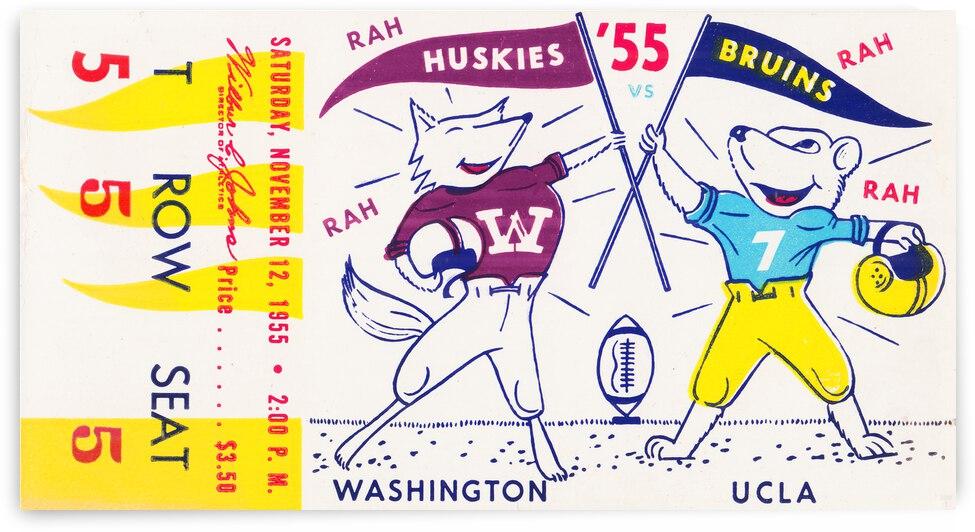 1955 UCLA Bruins vs. Washington Huskies | Row 1 by Row One Brand