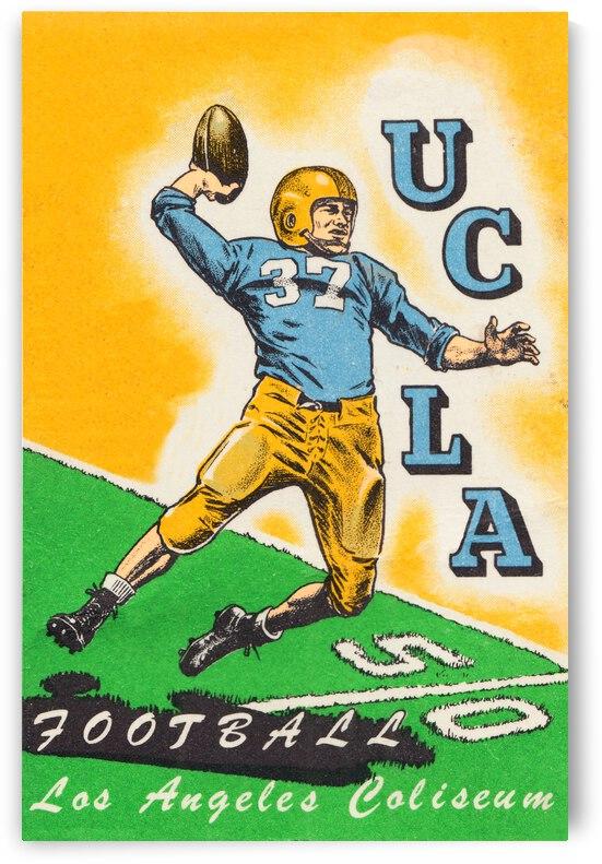 1950 UCLA Bruins Football Ticket Remix Art by Row One Brand