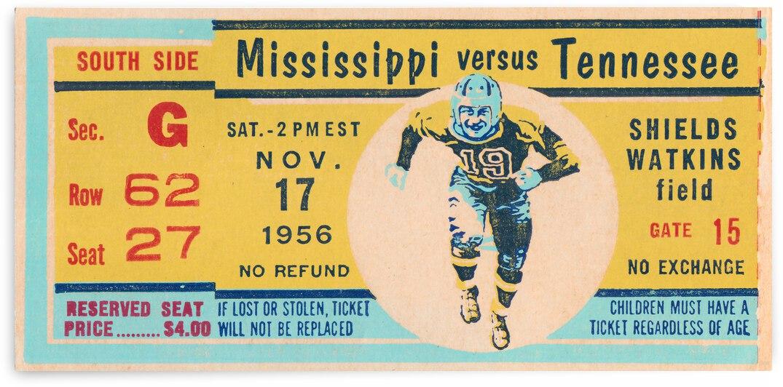 1956 Ole Miss Rebels vs. Tennessee Volunteers | Row 1  by Row One Brand