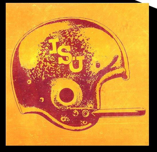 1969 Iowa State Football Helmet Art | Row 1 by Row One Brand