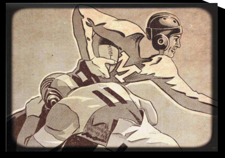 1938 Vintage Football Art | Row 1 by Row One Brand