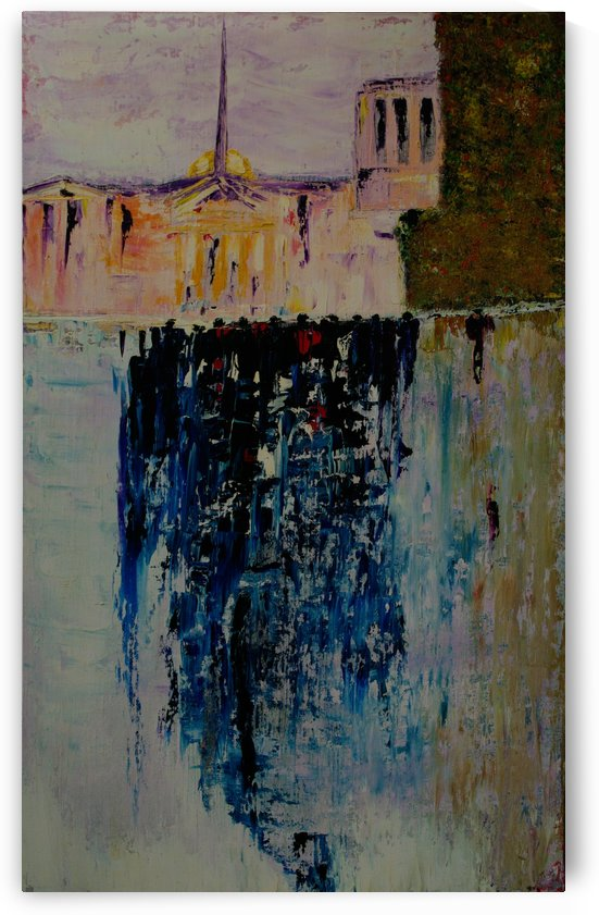 City ​​after rain 2012, 75x125cm by Vetrof Alik