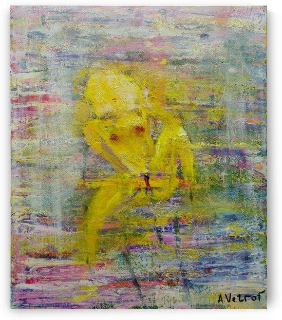 Nude oil on canvas 45x55 cm 2014painter Alik Vetrof by Vetrof Alik