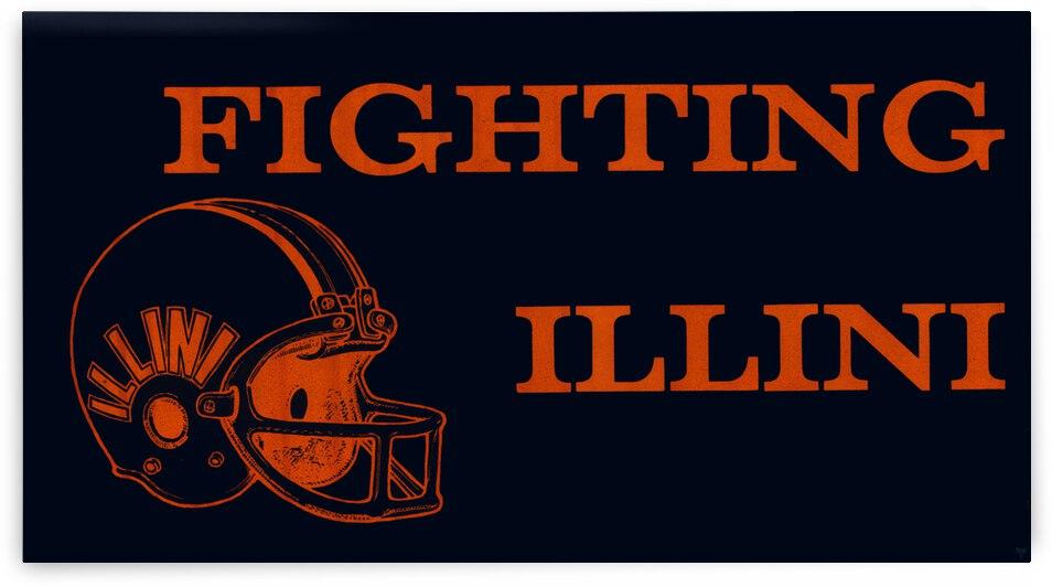 1979 Illinois Fighting Illini Football Helmet Art by Row One Brand