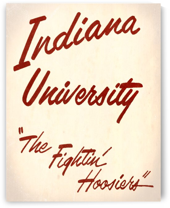 1962 Indiana University The Fighting Hoosiers by Row One Brand